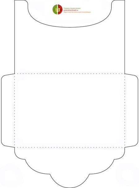 Размеры готовых конвертов: