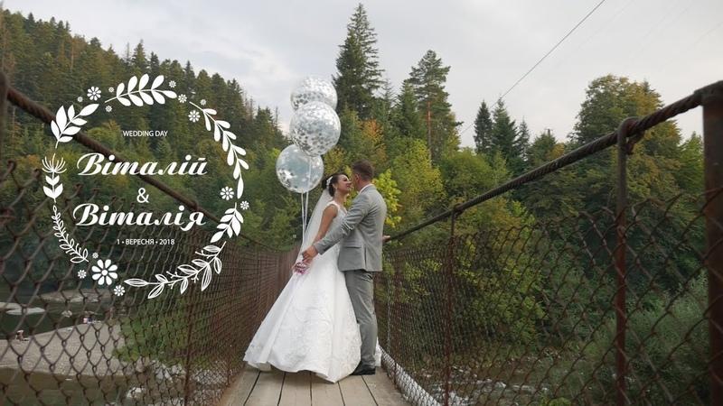 Весілля Віталій та Віталія - скорочена версія | Відеозйомка 0974444898