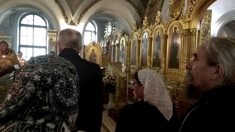 Фрагмент Всенощной службы в храме Петра и Павла на Новой Басманной 11 июля 2018