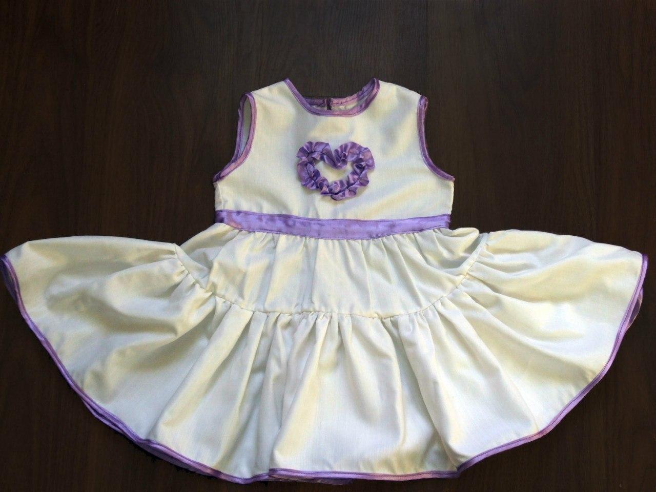 выкройка платья для малышки