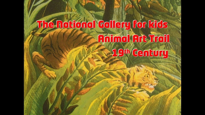 The National Gallery London for kids. Animal Art Trail: 19th Century Art. Quick trip to the museum