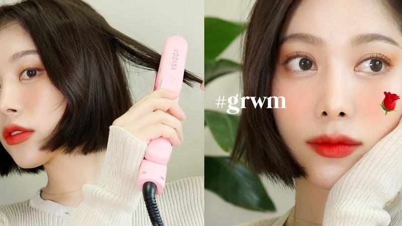 Eng/jpn) GRWM 맑은 장미 룩🌹메이크업부터 헤어까지 싹~ 같이 준비해요 SPRING ROSE LOOK | dear.jerry