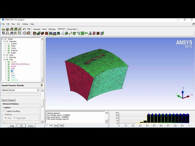 Defining periodicity in ICEM CFD and Fluent (4/4)