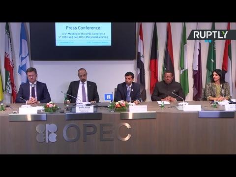 Новак принимает участие в пресс конференции по итогам встречи министров стран ОПЕК