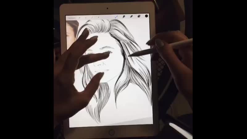 Прорисовка портрета