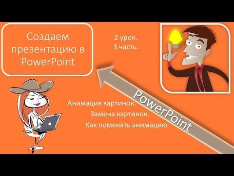 2 урок 3 часть Слайд 3 Анимация Создаем презентацию в PowerPoint