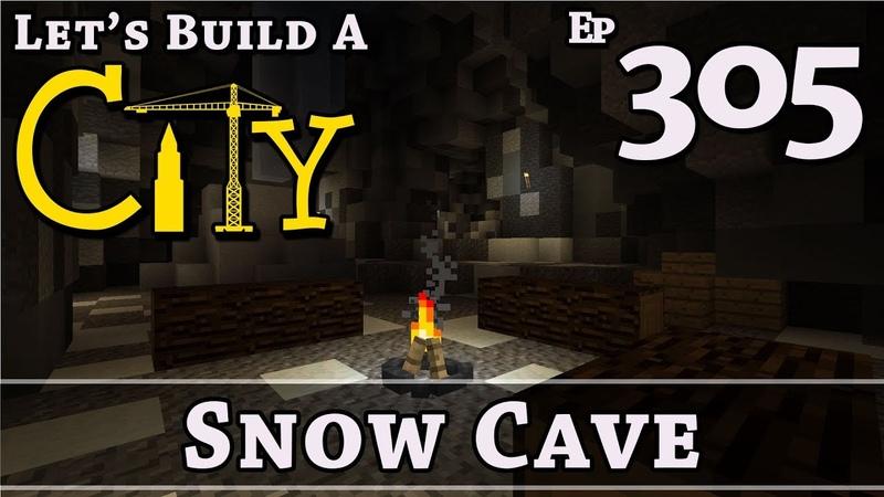 How To Build A City Minecraft Snow Cave E305