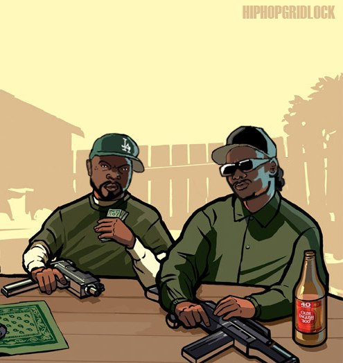 Ice Cube Gta sa Ice Cube Eazy-e Gta sa