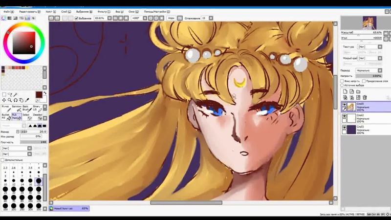 Speedpaint (princess Serenity) sailor moon