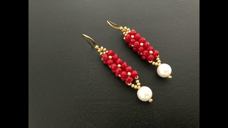Geometric Earrings Beaded earrings How to make beaded beaded earrings