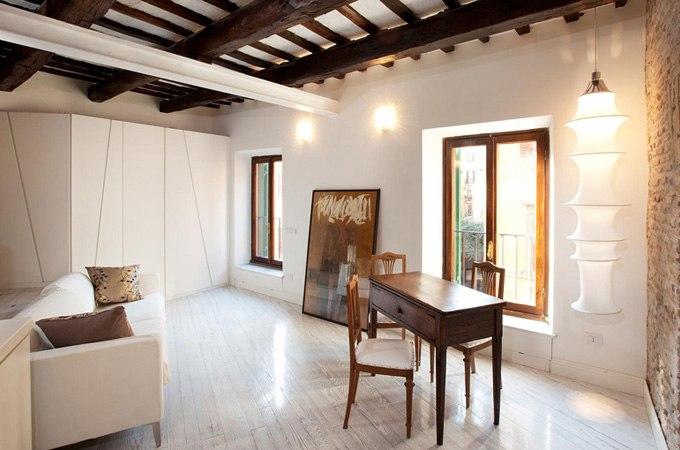 Дизайн квартиры-студии 38 м в Риме / Италия от Archifacturing - http://kvartirastudio.