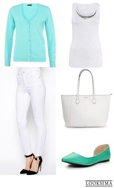 Образ в мятно-белых тонах от стилиста Екатерины Майтамал