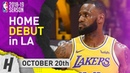 LeBron James HOME DEBUT Full Highlights Lakers vs Rockets 2018.10.20 - 24 Pts, 5 Ast