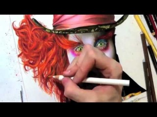 Drawing Johnny Depp as the Mad Hatter (����� ���, �������� �������)
