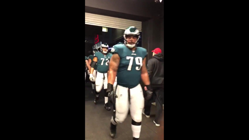 Here they come. FlyEaglesFly BeatVikings MINvsPHI NFCChampionship PlayOffs