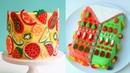 Awesome Fruit Cake Coloful Ideas - DIY Holiday Cake Decorating Tutorial (Oct) 16
