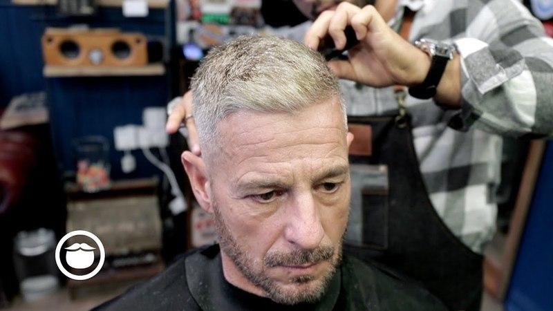 Barber Gives a Skin Fade to His Regular Customer | Jack Rabbit's Barbershop