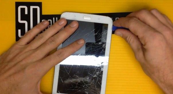 Поменять дисплей на планшете