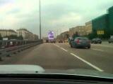 Авария/Видео регистратор/Дебилы/Subaru влетает в пробку на 170-180 км/ч