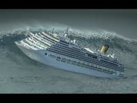 Шторм внутри круизного лайнера Storm inside the cruise liner