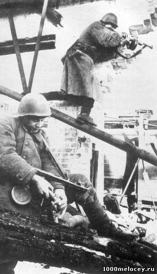 Русские солдаты ведут бой за этаж в