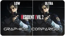 Resident Evil 2 - PC - Low. vs Ultra detailed Graphics Comparison 4K