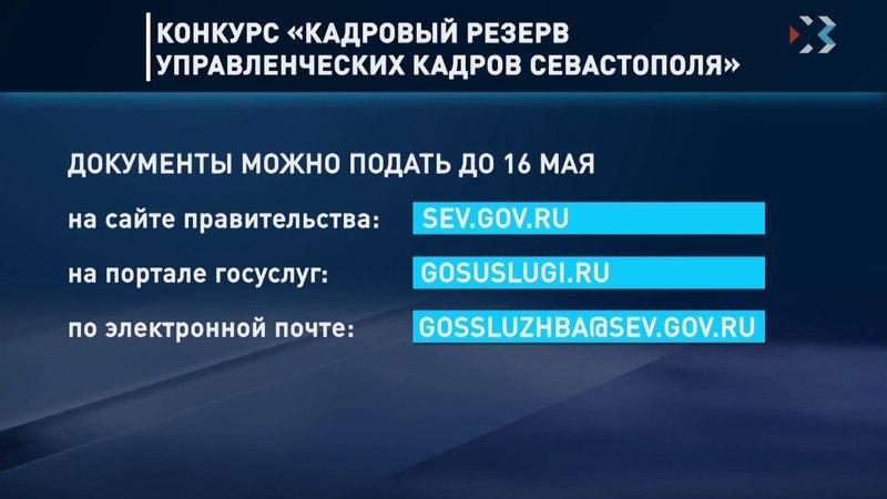 В Севастополе продолжается конкурс на включение в кадровый резерв правительства города