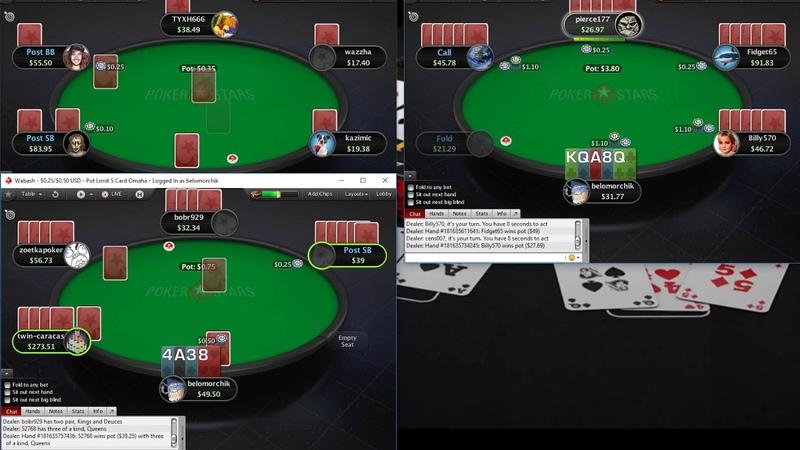 Сессия 5карточной Омахи на ПокерСтарс ПЛО100! 5card Omaha on PokerStars PLO100