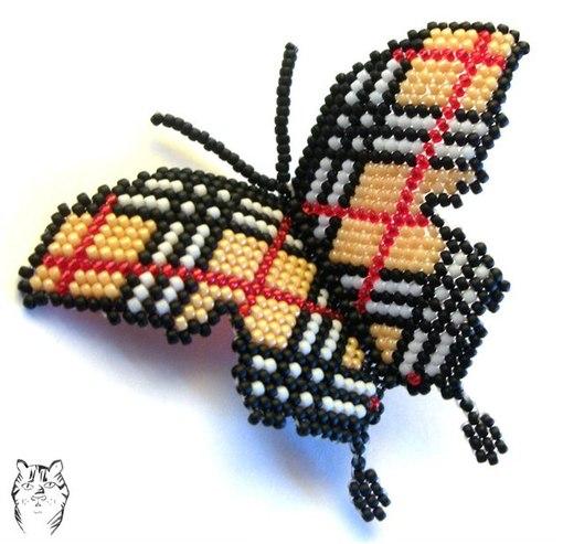 """Бабочка из бисера в стиле """""""