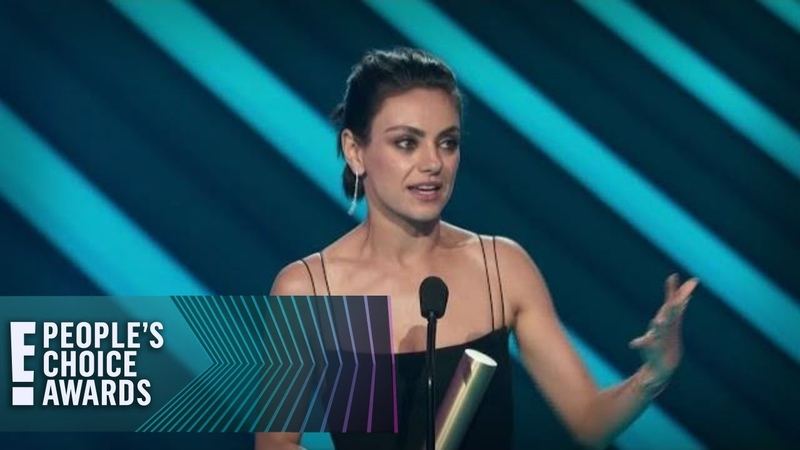 Mila Kunis Accepts Comedy Movie of 2018 for The Spy Who Dumped Me E People's Choice Awards
