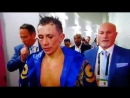 GGG is pissed and did not interview after the fight CaneloGGG2