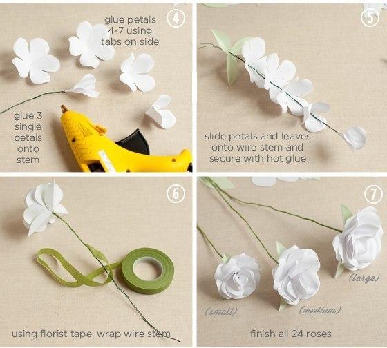 Как сделать искусственные цветы из бумаги инструкция