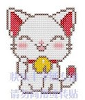 В архиве содержатся три простых схемы для вышивки крестом с котами.  Очень милые схемки - должны понравиться.