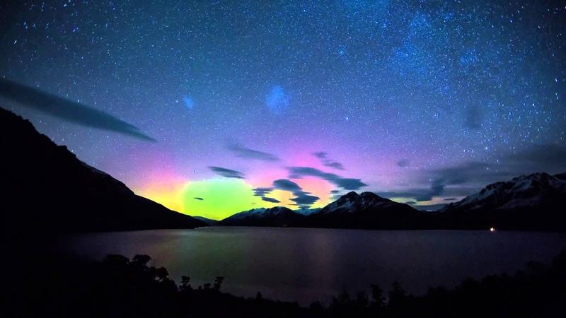 Aurora Australis over Queenstown, NZ - 4K Timelapse