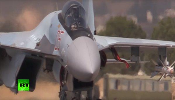 Опубликовано видео дежурства истребителей Су-35С ВКС РФ в Сирии