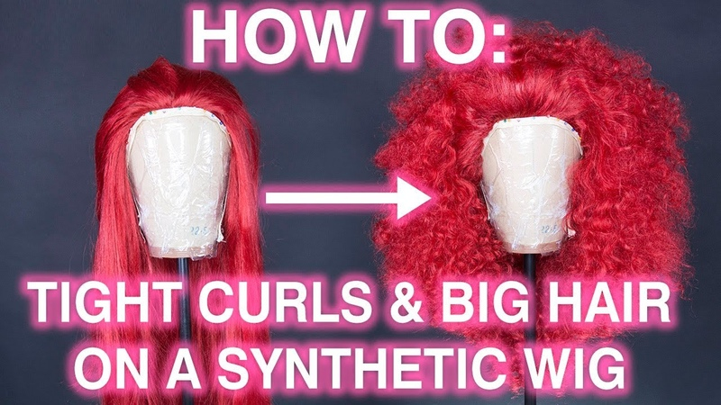 How To Style Tight Perm Rod Curls and Teased Hair on a Synthetic Wig