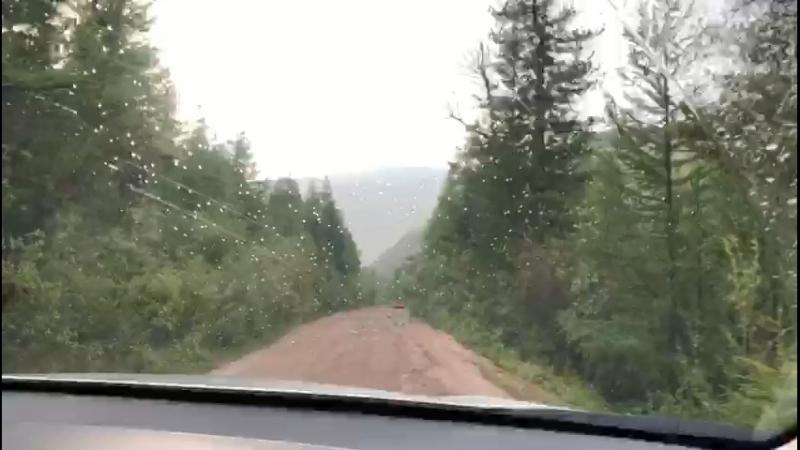 Дорога на Акташский ретранслятор спуск
