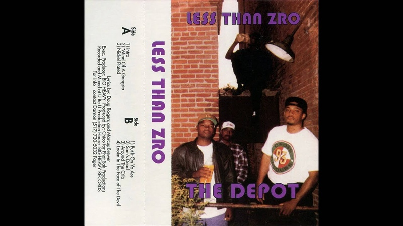 LESS THAN ZRO - NICKLE PLATED (SAGINAW, MI 1994) G-FUNK TAPE ONLY