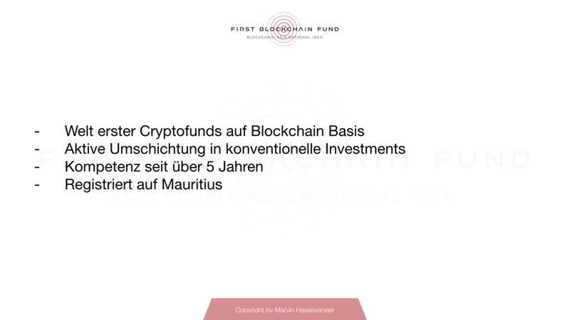 First Blockchain Fund Deutsch Präsentation