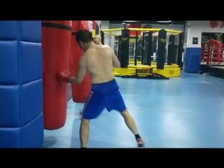 我们拳击训练