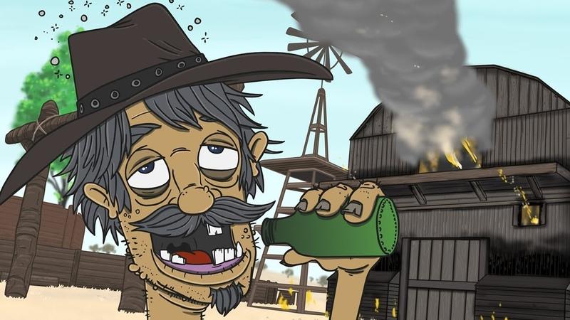 БУХАЯ СТРЕЛЬБА в Red Dead Redemption 2 (АНИМАЦИЯ)