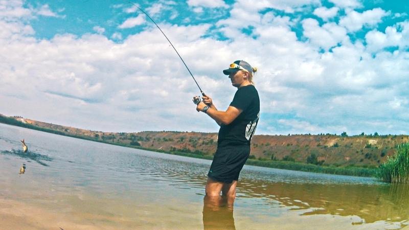 Краснопёрка и наноджиг или спиннинговая рыбалка в песчаном карьере - 04.07.2018