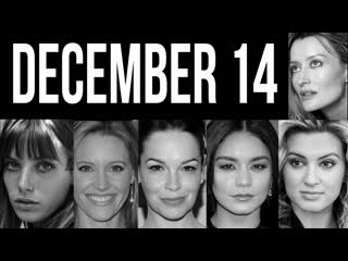 December 14 famous birthdays women celebrities