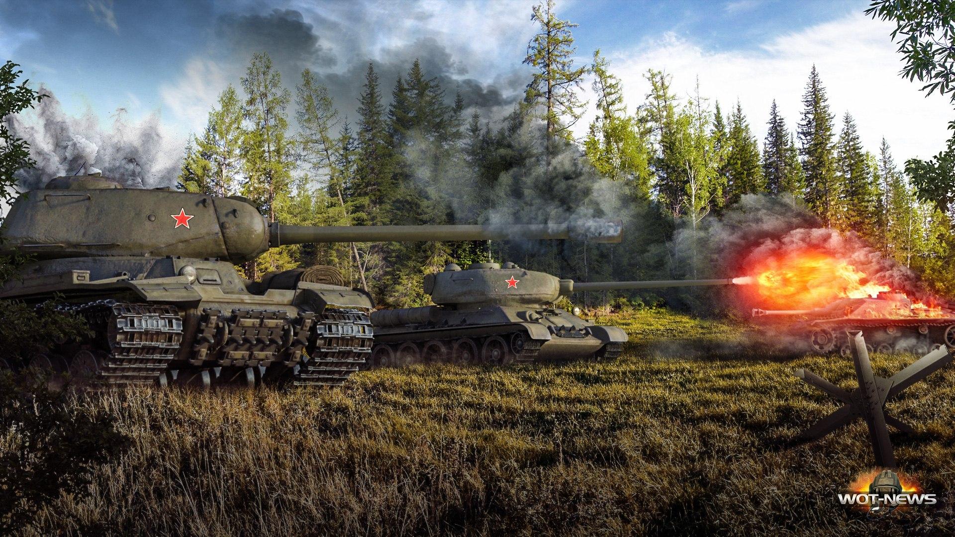 рисунок World Of Tanks советские танки