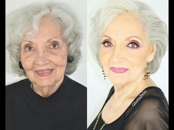Maquillaje para Abuelas Piel Madura (Mujeres 80)