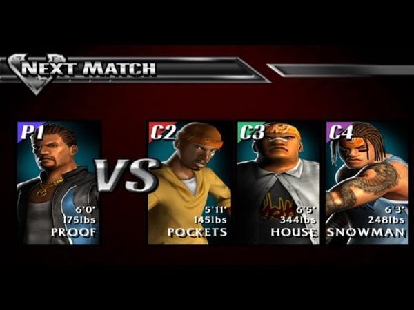 Def Jam Vendetta 52. Proof vs Snowman x House x Pockets