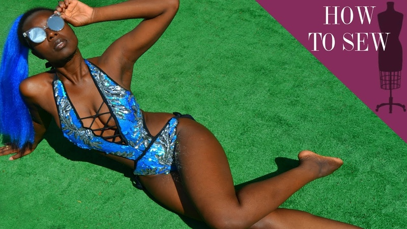 How To Sew A Sequin Monokini Bathing Suit