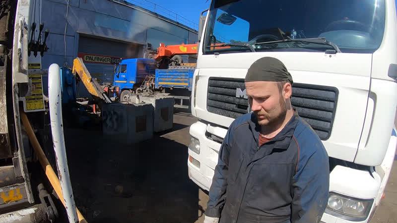 Решаем электрогидравлические вопросы на мусоровозе ORAKCI