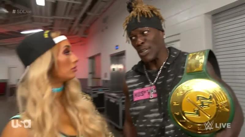 Video@carmelladaily | «SmackDown Live 11 июня 2019» | Кармелла против Сони Девиль сегмент с Р-Труфом