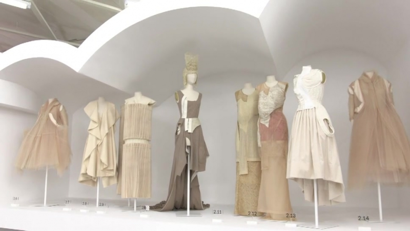 Rei Kawakubo her label Comme des Garçons exhibited at the MET in New York